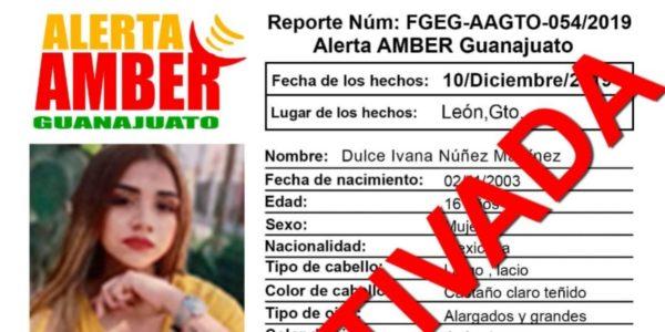 La jovencita, menor de edad, había desaparecido el 11 de diciembre en León