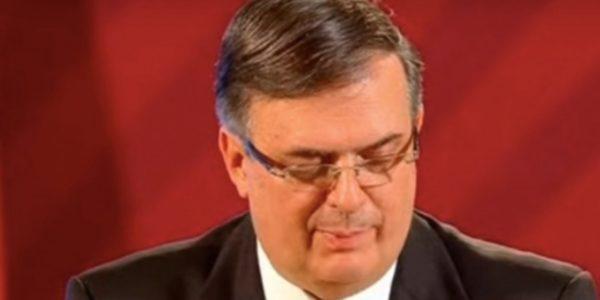 Marcelo Ebrard, titular de Relaciones Exteriores, reconoció al covid-19 como grave y de atención prioritaria